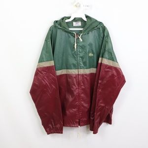 Vintage 80s Izod Lacoste Color Block Jacket XL